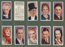 Cigarette cards set Film Stars 1936 Ginger Rogers,Shirley Temple